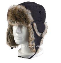 custom fur winter cap with ear flaps