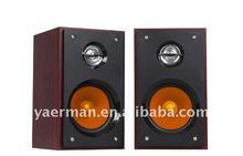 2.0 wooden subwoofer multimedia speakers