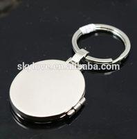 clear round blank acrylic photo keychain