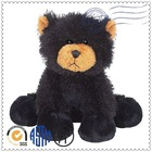 Hot selling newest plush toys for promotion black bear decor home