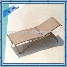 Sun-proof Brown Rattan Sun Lounger