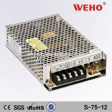 High efficiency 12v dc led driver 75W led power supply