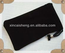 black Soft flocking gift bag