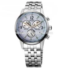 SKONE 7145 hot sale sport style steel chain watch