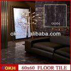 Black color metallic ceramic floor tiles