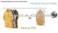 PA+PE good material hanger vacuum storage bag for clothes