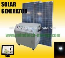 2014 latest off-grid 5000w solar power generator