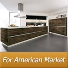 America project modern kitchen cabinet(lacquer,wood veneer,wood grain PVC)