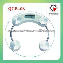 180 kg / 100 g digital de vidrio báscula de baño de salud personal escala