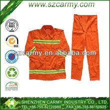 Polyester & Nylon Bright Orange Flame Retardant Welding Work Safety Clothing