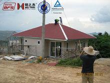 Energy saving 2 story modern Light Steel Structure house villa