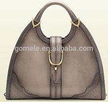 2015 Popular wholesales women genuine leather handbag, vintage lady genuine leather tote bag cheap handbag imitation