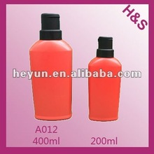 400ml 200ml red with black cap shampoo bottle A012