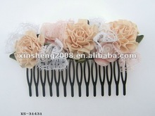 Beautiful chiffon flower hair dryer with comb