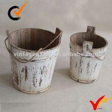 shabby chic mini wooden barrels