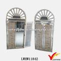 Dekorative Vintage-Stil gewölbt jalousiefenster holz spiegel