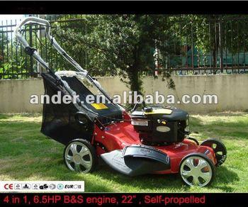 "B&S Self Propelled Lawn Mower 22"", 4 in 1"