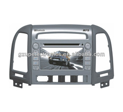 7 inch Double Din Customized Car DVD Player for SANTA FE 2008~2010 With GPS and Bluetooth