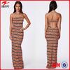 Wholesale Neon Print Long Maxi Dress/Beautiful Evening Dress 2014