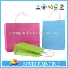 2015 cheap customized white kraft paper bag/craft paper bag/brown paper bag wholesale
