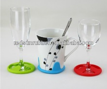 silicone red wine glass anti-slip pad