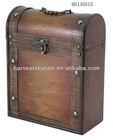 vintage wooden bottle case