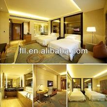 Modern bedroom furniture set design 5 star hotel furniture for sale (FLL-TF-024)