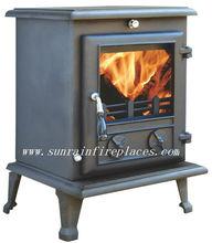 multi fuel cast iron wood burning fireplace(JA017)