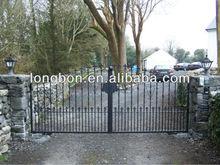 2015 top selling powder coated elegant farm metal gates