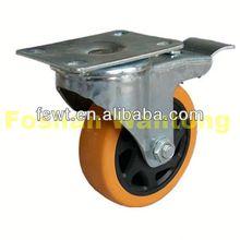 Super Polyurethane(PU) Universal Castor Hauling Equipment wheel barrow casters
