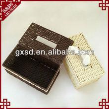S&D Handmade Home And Office rectangular rattan knit tissue box