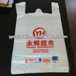 printed custom made HDPE plastic shopping bag