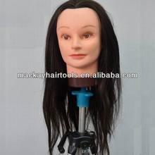 """Cheap training doll head with hair 18"""" 50% human hair mixing"""