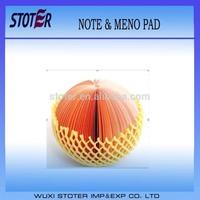 2014 hot sale market sticky note orange note &memo pad