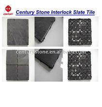 Interlock culture slate tile