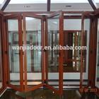 Wanjia new design luxury aluminium folding door interior