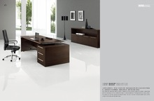 China manufacturer office furniture rectangular ebony veneer executive desks with drawer