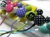 Promotion Mickey Shape Cartoon Gift Pink Black Purple Mini Fashion In-ear Earphone