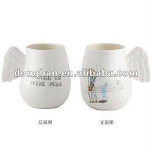 300ML ceramic angel mug with wing handle decorated mugs