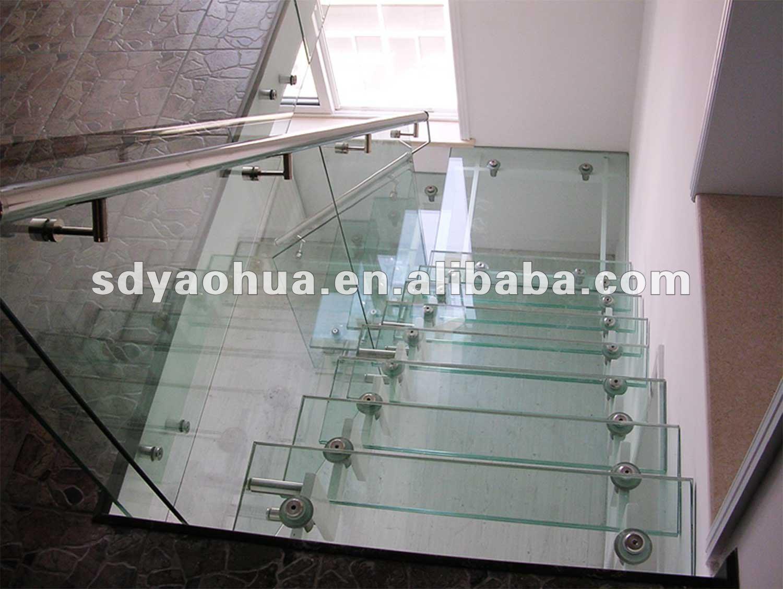 Claro de la escalera de vidrio templado cristal de - Escaleras de cristal templado ...