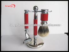 shaving brush set, mens shaving kits, metal stander