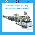 Zfsj irrigação por gotejamento máquina / linha in line plana tubo gotejador