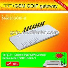 GOIP GSM gateway,sms audio,8 piort VoIP GSM gateway support SIMEI chenge,USSD