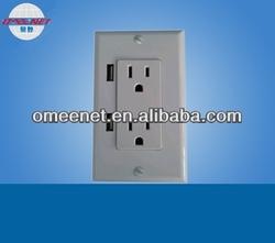 for ipad,iphone charging USB wall socket