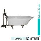 deep enamel free standing cast iron bathtub CBA5401