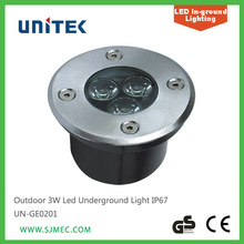 Outdoor 3W Led Underground Light IP67