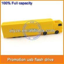 Promotion factory gift truck shape usb stick, plastic usb flash drive