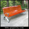 ISO9001 certified outdoor steel and solid wood park bench/outdoor wooden bench from Guangzhou urban street furniture supplier