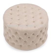 Round Ivory living room furniture footstool Ottoman GK5005