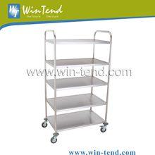 Detachable 5-Shelf Stainless Steel Serving Trolley Cart